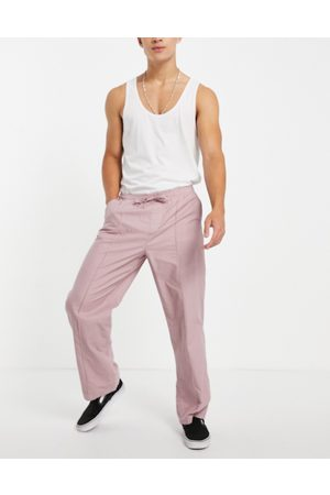 ASOS Wide fit pants with pintuck in