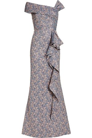 Saks Fifth Avenue Women Strapless Dresses - Jacquard Off-The-Shoulder Ruffle Gown