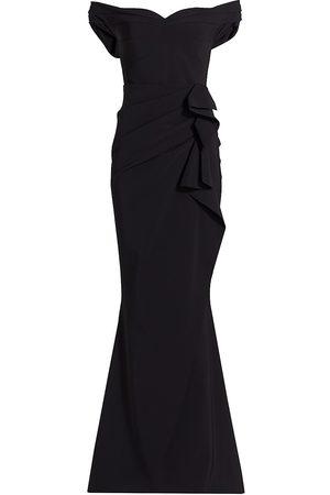CHIARA BONI Women Strapless Dresses - Off-The-Shoulder Sweetheart Ruffled Gown