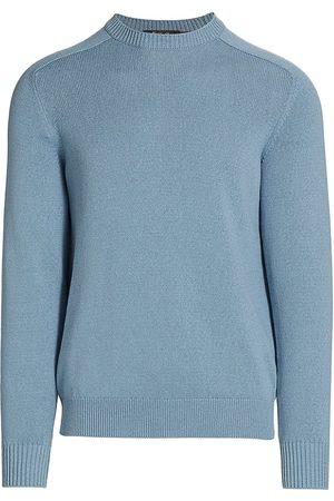 Loro Piana Men Sweatshirts - Cotton & Silk Raglan Sweater
