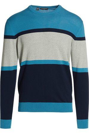 Saks Fifth Avenue Men Sweatshirts - Slim-Fit Block Stripe Sweater