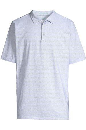 B Draddy Men Polo Shirts - Vin Micro Striped Polo Shirt