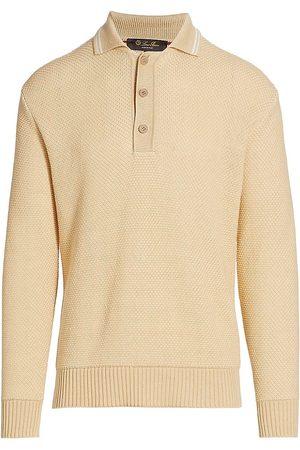 Loro Piana Men Polo Shirts - Longfield Long-Sleeve Polo Shirt