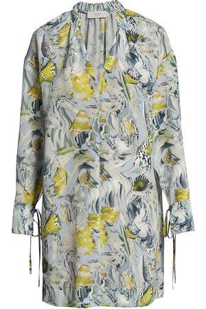 Agnona Women Beach Dresses - Silk Printed Caftan