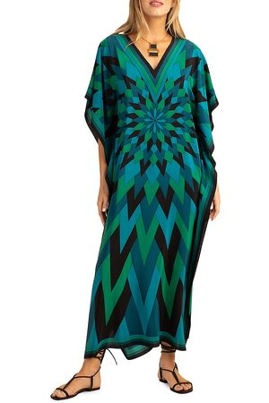 Trina Turk Women Beach Dresses - Theodora Printed Silk Caftan