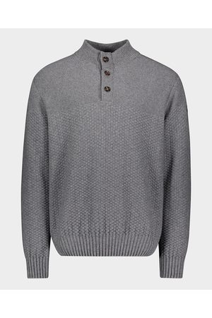 Paul & Shark Wool & Cashmere button sweater with suede details