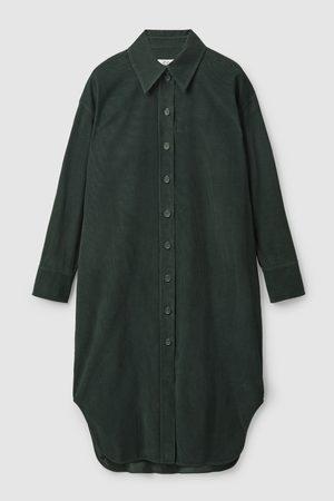 COS CORDUROY SHIRT DRESS