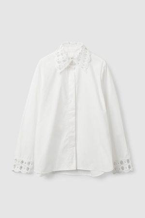 COS LACE DETAILED POPLIN SHIRT
