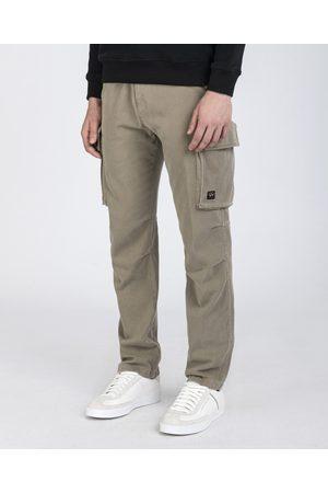 Paul & Shark Men Cargo Pants - Stretch cotton & tencel cargo trousers