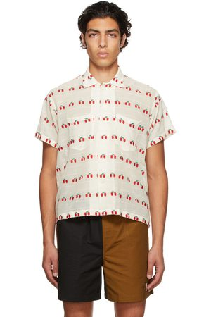 BODE Men Shirts - White Sheer Cherry Shirt