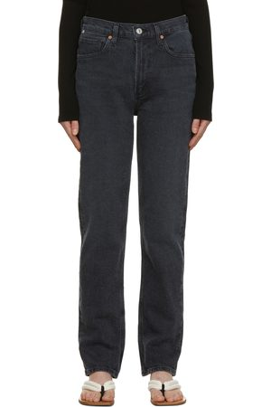 Citizens of Humanity Women High Waisted - Black High Rise Stovepipe Daphne Jeans