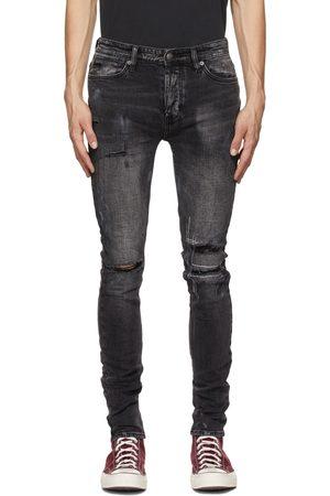 KSUBI Men Jeans - Black Van Winkle Burnt Jeans