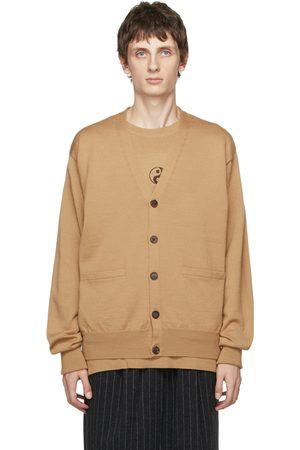 Bed J.W. Ford Men Cardigans - Beige Wool Buttoned Cardigan