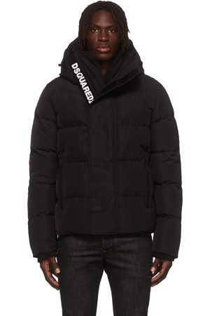 Dsquared2 Men Coats - Black Down Hooded Coat