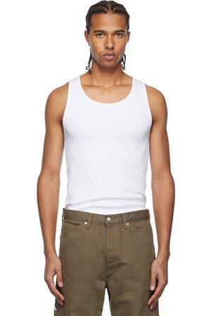 Calvin Klein Men Tank Tops - Three-Pack White Season 2 Rib Knit Tank Tops