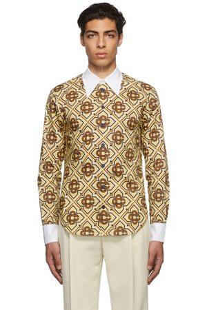 Casablanca Men Shirts - Beige Diamond Monogram Shirt