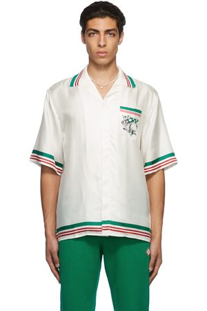 Casablanca White Knit Collar Sport Shirt