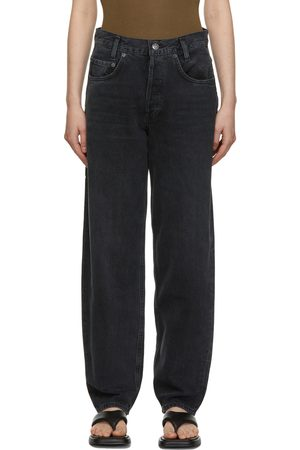 AGOLDE Women High Waisted - Grey High Rise Baggy Taper Jeans