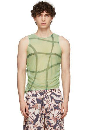 Collina Strada Men Tank Tops - SSENSE Exclusive Green Lydia Tank Top