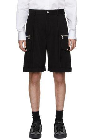 Balmain Men Bermudas - Black Cargo Bermuda Shorts