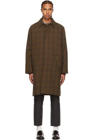 A.P.C. Men Jackets - Brown Wool Tweed Mac Coat