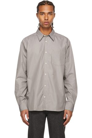 A.P.C. Men Shirts - SUZANNE KOLLER Edition Taupe Striped Shirt