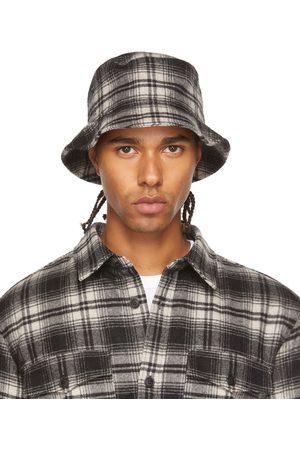 A.P.C. Men Hats - Black Check Alex Bucket Hat