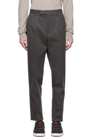 Ermenegildo Zegna Men Chinos - Grey Winter Chino Trousers