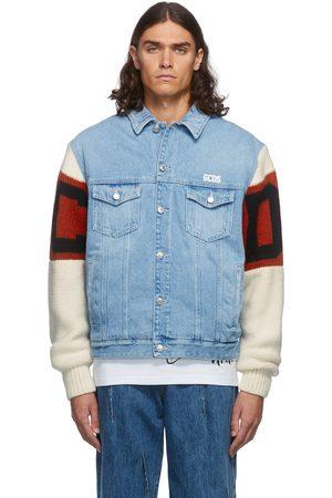 GCDS Men Denim Jackets - Blue Mix Denim Jacket