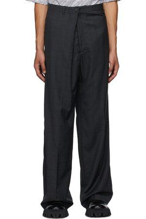 Balenciaga Men Pants - Check Trousers