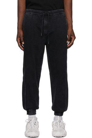 JUUN.J Men Sweats - Black Denim Lounge Pants