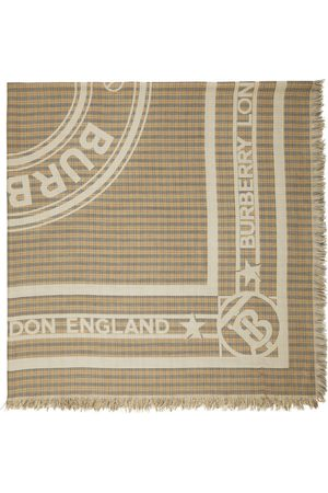 Burberry Men Scarves - Beige Small Check TB Scarf