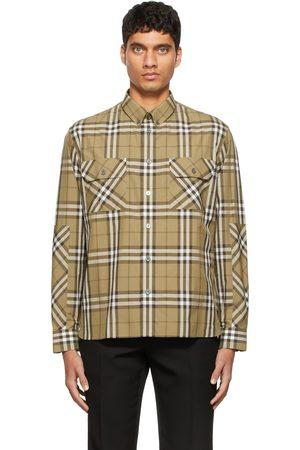 Burberry Men Casual - Khaki Casual Check Shirt