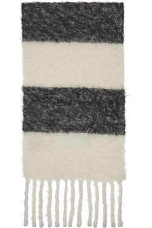 Marni Men Scarves - Black & White Alpaca Scarf
