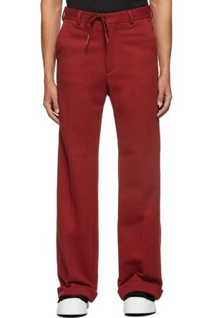 Marni Men Pants - Red Compact Trousers