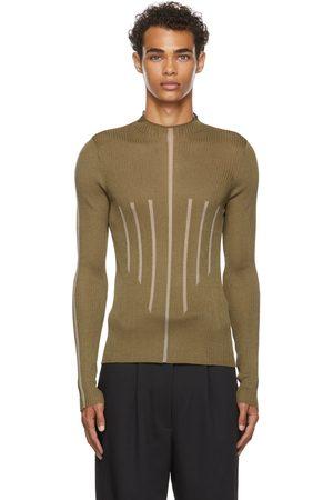 DION LEE Men Long sleeves - Khaki Float Frame Long Sleeve Turtleneck