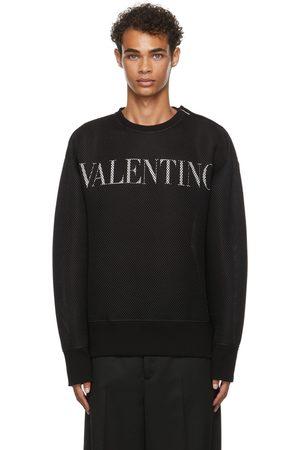 VALENTINO Men Sweatshirts - Mesh Logo Sweatshirt