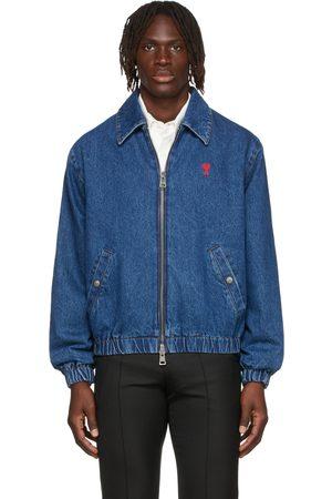 Ami Men Denim Jackets - Blue Ami de Cœur Denim Jacket