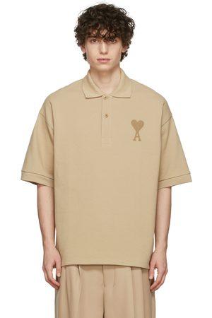 Ami Men Polo Shirts - Beige Ami de Cœur Polo
