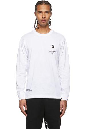AAPE BY A BATHING APE Men Long Sleeve - White Logo Long Sleeve T-Shirt