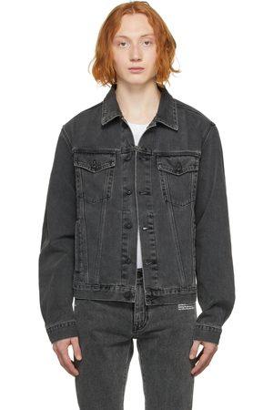 OFF-WHITE Men Denim Jackets - Denim Negative Mark Jacket