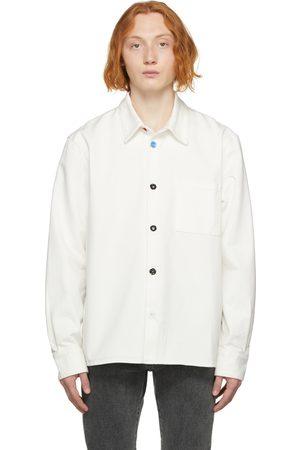OFF-WHITE White Denim Flower Button Shirt