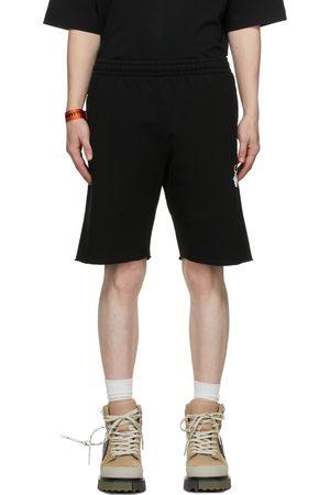OFF-WHITE Men Shorts - Black & White 90s Logo Shorts