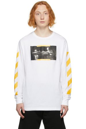 OFF-WHITE Men Long Sleeve - White Caravaggio Painting Long Sleeve T-Shirt