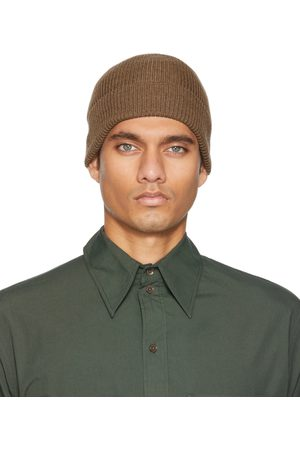 LEMAIRE Men Beanies - Brown Knitted Hat Beanie