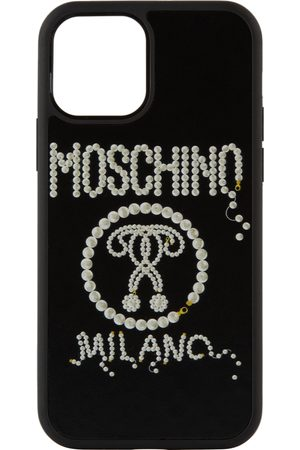 Moschino Phones Cases - Black Pearl Double Question Mark iPhone 12/12 Pro Case