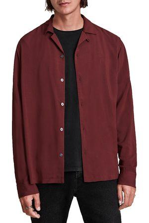 AllSaints Men Shirts - Venice Solid Regular Fit Button Down Camp Shirt