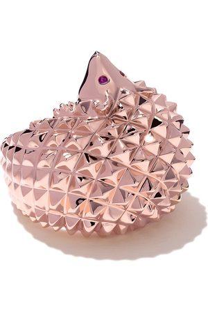 Boucheron Women Rings - 18kt rose gold Hans, the hedgehog diamond and ruby ring - PG