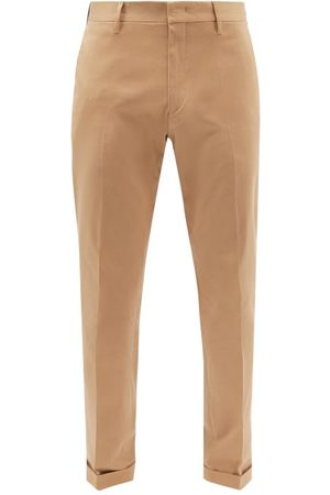 Paul Smith Cotton-blend Twill Tapered-leg Chino Trousers - Mens - Tan