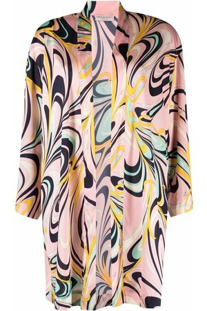 Emilio Pucci Onde-print open front robe